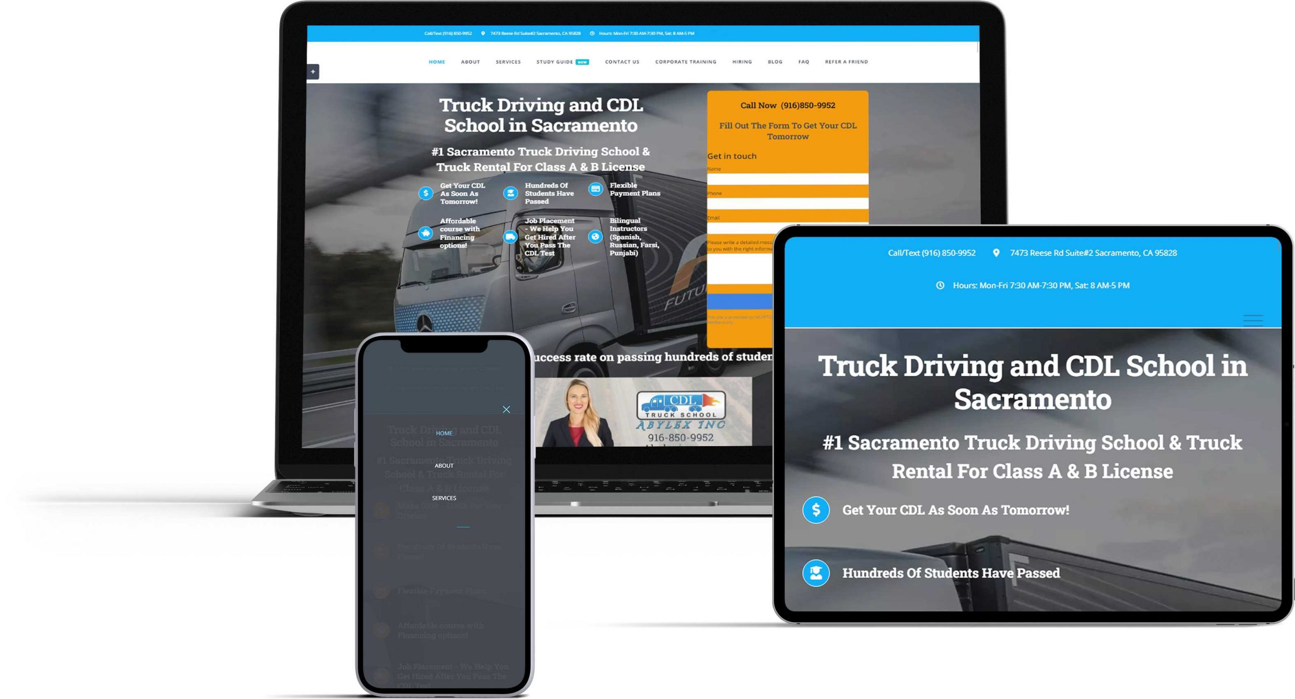trucking school website